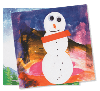 eco art house holiday card